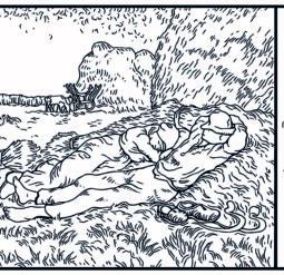 Полуденный отдых 1890 год - Раскраска Ван Гог