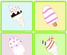 Такое вкусное мороженое - карточки обведи и раскрась