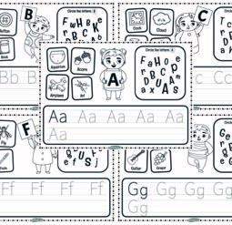 Английский алфавит - прописи и веселые задания