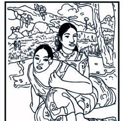 Когда свадьба 1892 год - Раскраска Поль Гоген