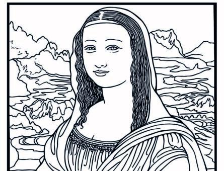 Портрет Мона Лизы - Раскраска Леонардо да Винчи