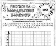 Щенок - Рисунки на координатной плоскости