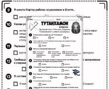 Тутанхамон - вопросы